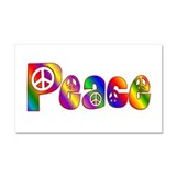 PEACE Car Magnet 20 x 12