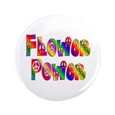 "FLOWER POWER 3.5"" Button (100 pack)"