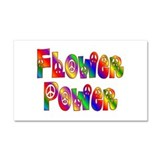 FLOWER POWER Car Magnet 20 x 12