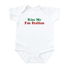 Kiss Me I'm Italian Infant Creeper