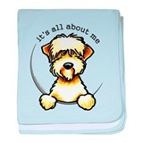 Funny Wheaten Terrier baby blanket