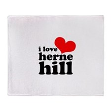 i love herne hill Throw Blanket