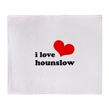 i love hounslow Throw Blanket