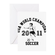 Unique Usa womens soccer Greeting Cards (Pk of 10)