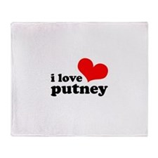 i love putney Throw Blanket
