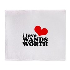 i love wandsworth Throw Blanket
