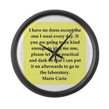 pierre and marie curie quote Large Wall Clock