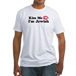 Kiss Me I'm Jewish Fitted T-Shirt