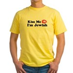 Kiss Me I'm Jewish Yellow T-Shirt