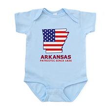 AR USA Flag Map 2 Infant Bodysuit