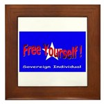 Free Yourself Framed Tile