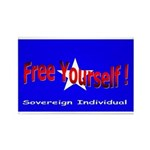 Free Yourself Rectangle Magnet (100 pack)