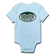 Denver Colo License Plate Infant Bodysuit