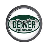 Denver Colo License Plate Wall Clock
