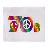 70s PEACE SIGN Throw Blanket