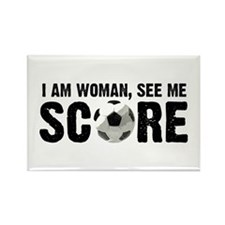 See Me Score Soccer Rectangle Magnet (100 pack)