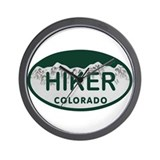 Hiker Colo License Plate Wall Clock