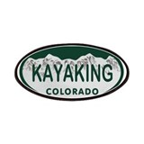 Kayaking Colo License Plate Patches