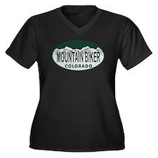 Mountan Biker Colo License Plate Women's Plus Size