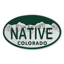 Native Colo License Plate Bumper Stickers