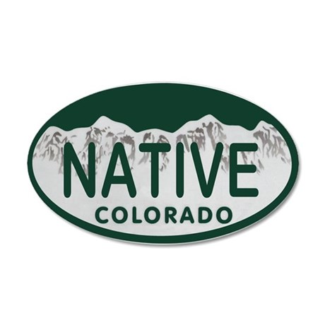 Native Colo License Plate 20x12 Oval Wall Decal
