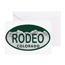 Rodeo Colo License Plate Greeting Card