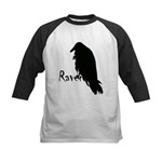 Black Raven on Raven Kids Baseball Jersey