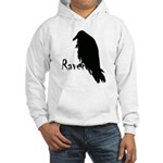 Black Raven on Raven Hooded Sweatshirt