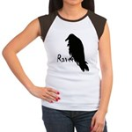 Black Raven on Raven Women's Cap Sleeve T-Shirt
