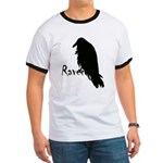 Black Raven on Raven Ringer T