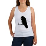 Black Raven on Raven Women's Tank Top