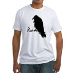 Black Raven on Raven Fitted T-Shirt
