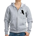 Black Raven on Raven Women's Zip Hoodie