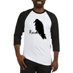 Black Raven on Raven Baseball Jersey