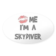Kiss Me I'm A Skydiver Oval Decal