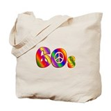 60s PEACE SIGN Tote Bag