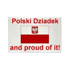 "Polish Dziadek (Grandfather) Magnet (3""x2"")"