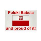 Polish Babcia(Grandmother) Rectangle Magnet