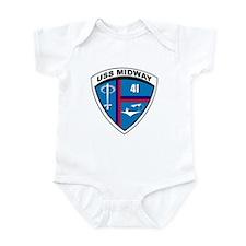 Cute Uss midway Infant Bodysuit