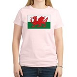 Wales Flag Women's Pink T-Shirt