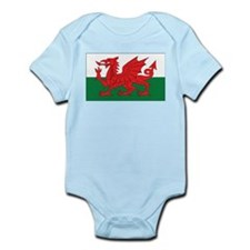 Wales Flag Infant Creeper