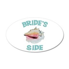 Island Wedding Bride's Side 22x14 Oval Wall Peel