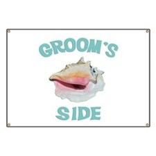 Beach Wedding Groom's Side Banner