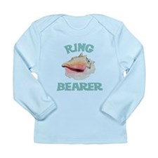 Beach Wedding Ring Bearer Long Sleeve Infant T-Shi