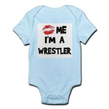 Kiss Me I'm A Wrestler Infant Creeper