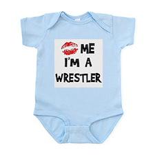 Kiss Me I'm A Wrestler Infant Creeper