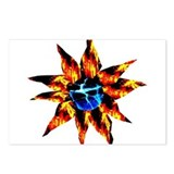 Lava Bloom Sapphire Ice Pisti Postcards (Package o