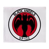 VF-122 BLACK ANGELS Throw Blanket
