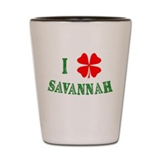 I Heart Savannah Shot Glass