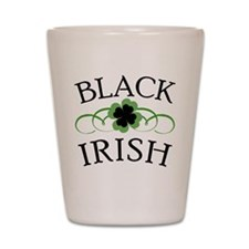 Black Irish with Fancy Shamrock Shot Glass